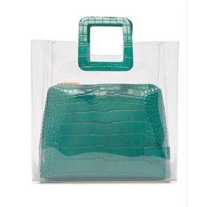 Staud Shirley leather and pvc tote bag